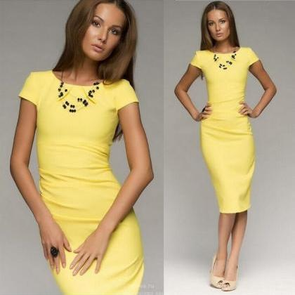 Women Midi Summer Style Dress Short..