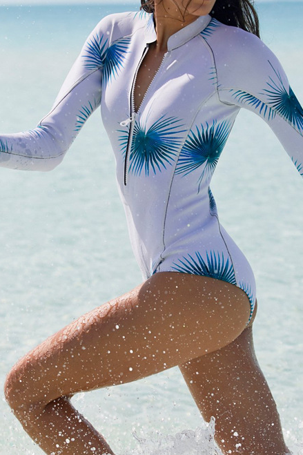 Sexy Long Sleeve One Piece Swimwear