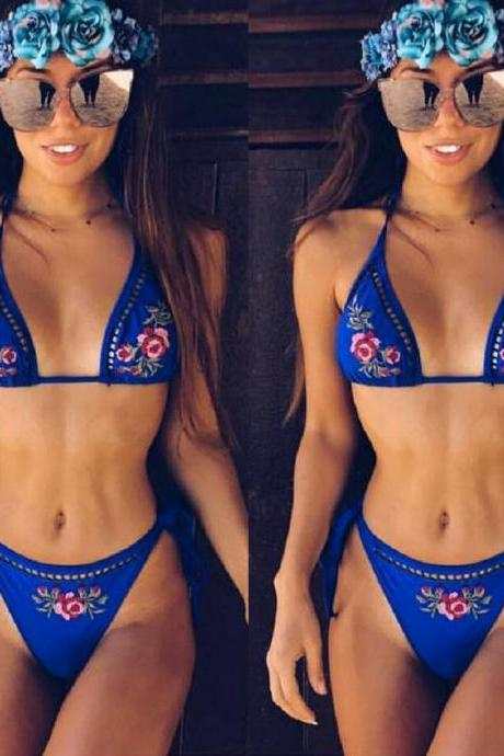 Beach Summer Sexy Hot New Arrival Swimsuit Print Swimwear Floral Bikini