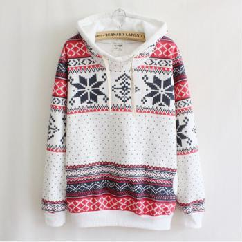 Printed long-sleeved hooded sweater #092821AD